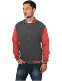 Melange College Sweatjacket TB423 blk/red Black