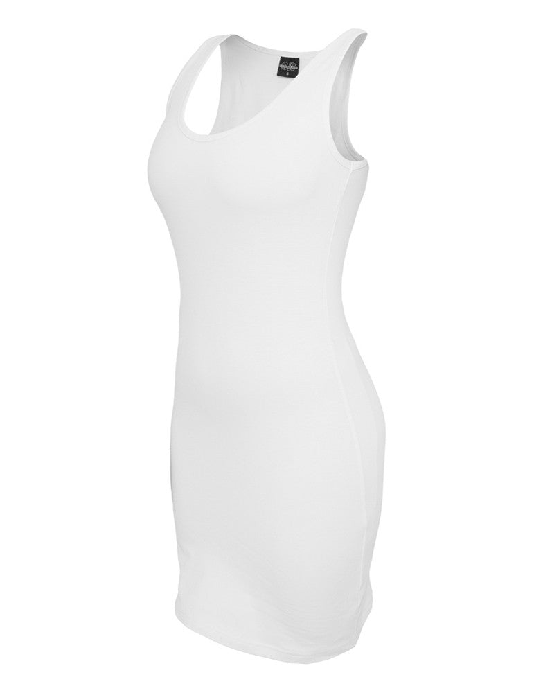 Ladies Sleeveless Dress TB464 white White