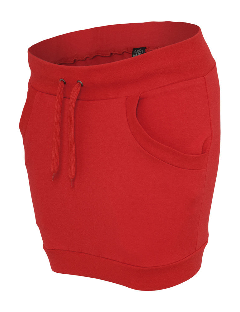 Ladies French Terry Skirt TB466 red Red