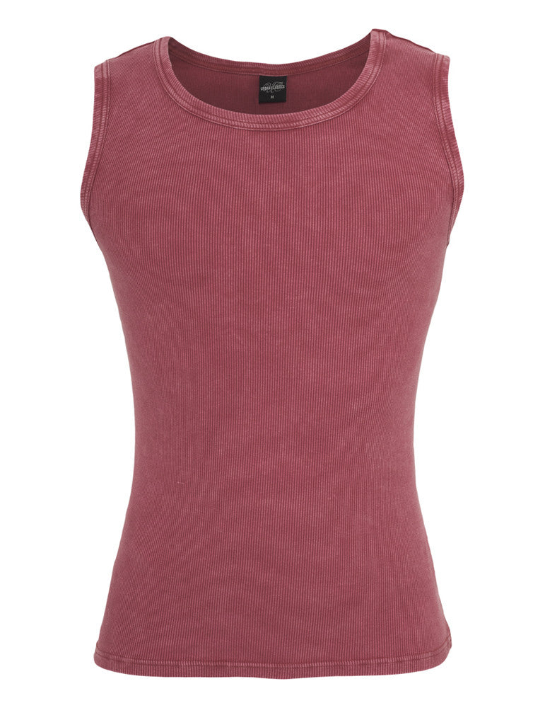 Faded Tanktop TB471 ruby Red