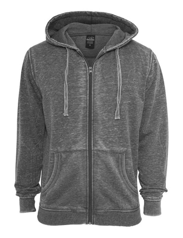 Burnout Zip Hoody TB475 darkgrey Grey