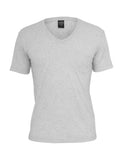 Melange V-Neck Pocket Tee TB484 lightgrey Grey