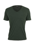 Melange V-Neck Pocket Tee TB484 forestgreen/blk Green