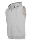 Melange Sleeveless Ziphoody TB487 lightgrey Grey