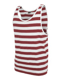 Stripe Big Tank TB499 wht/ruby White