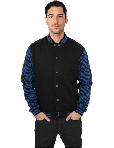 2-tone Zebra College Jacket TB505 roy/blk Blue