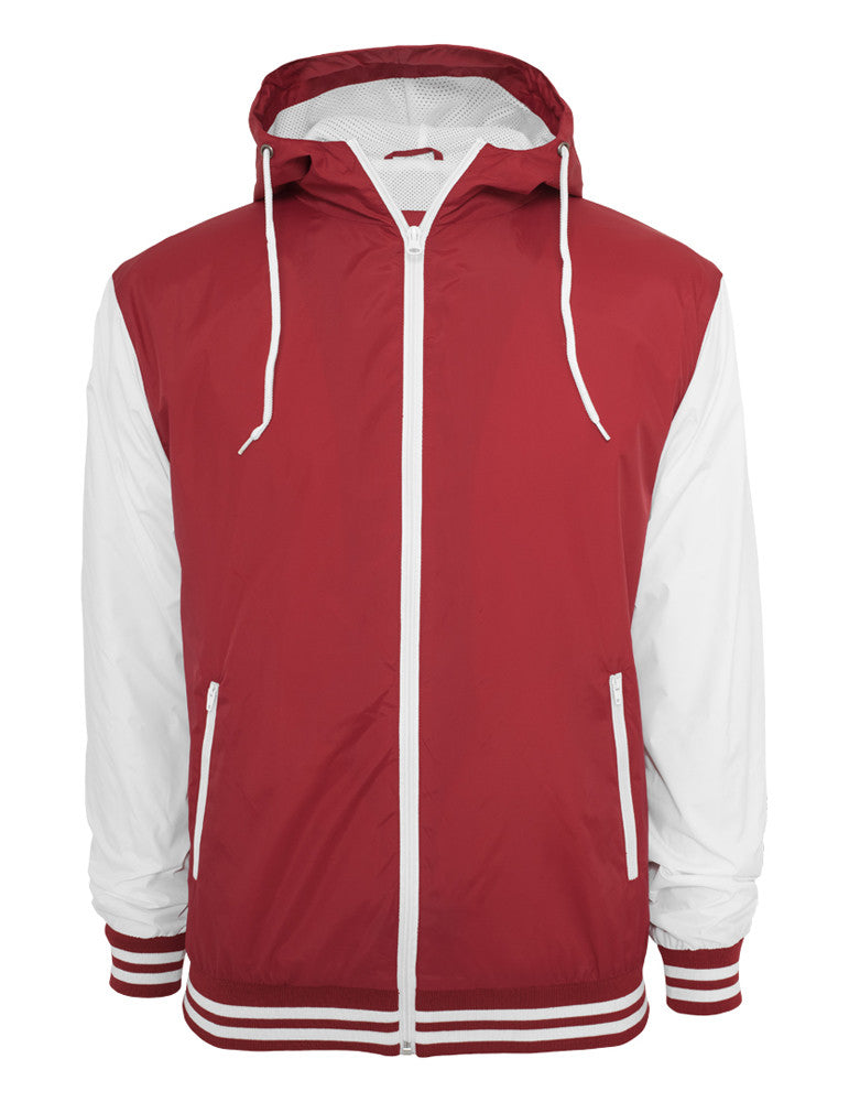 College Windbreaker TB509 ruby/wht Red