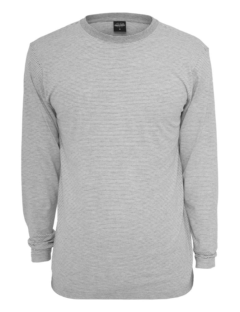 Striped Longsleeve T-Shirt TB529 gry/wht Grey