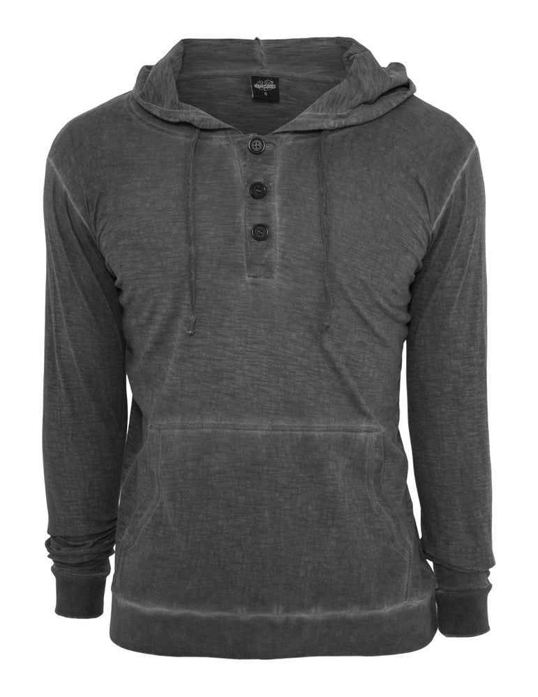 Spray Dye Slubjersey Hoody TB535 darkgrey Grey