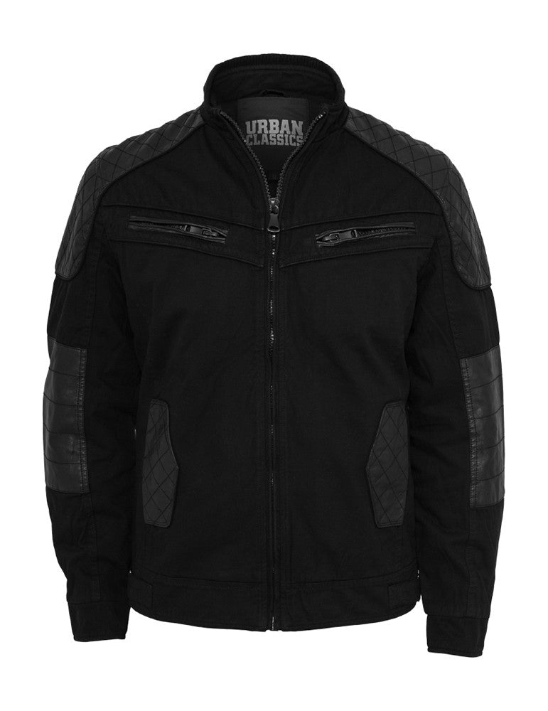 Cotton/Leathermix Racer Jacket TB562 black Black