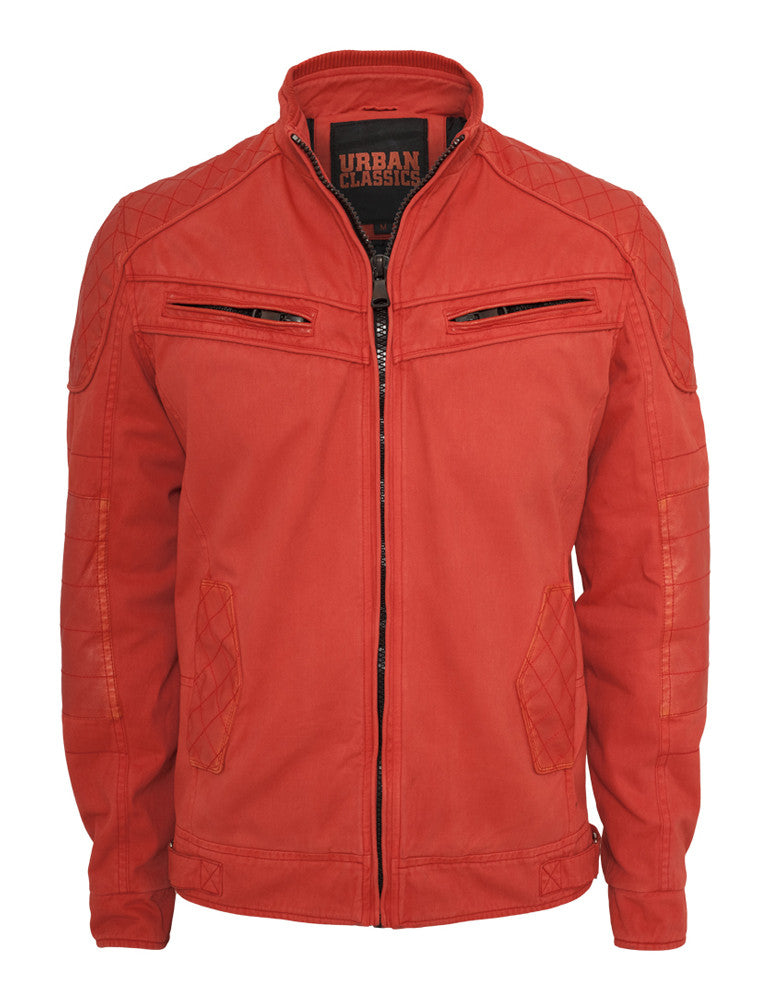 Cotton/Leathermix Racer Jacket TB562 red Red