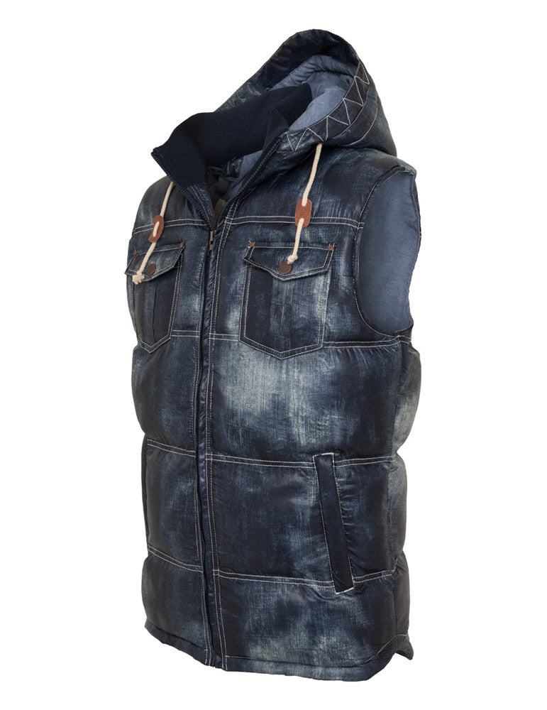Denim Look Vest TB567 denimblue Dark Blue
