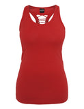 Ladies Cutted Back Tanktop TB588 red Red