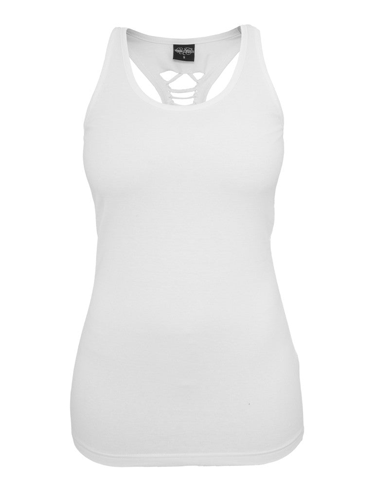 Ladies Cutted Back Tanktop TB588 white White