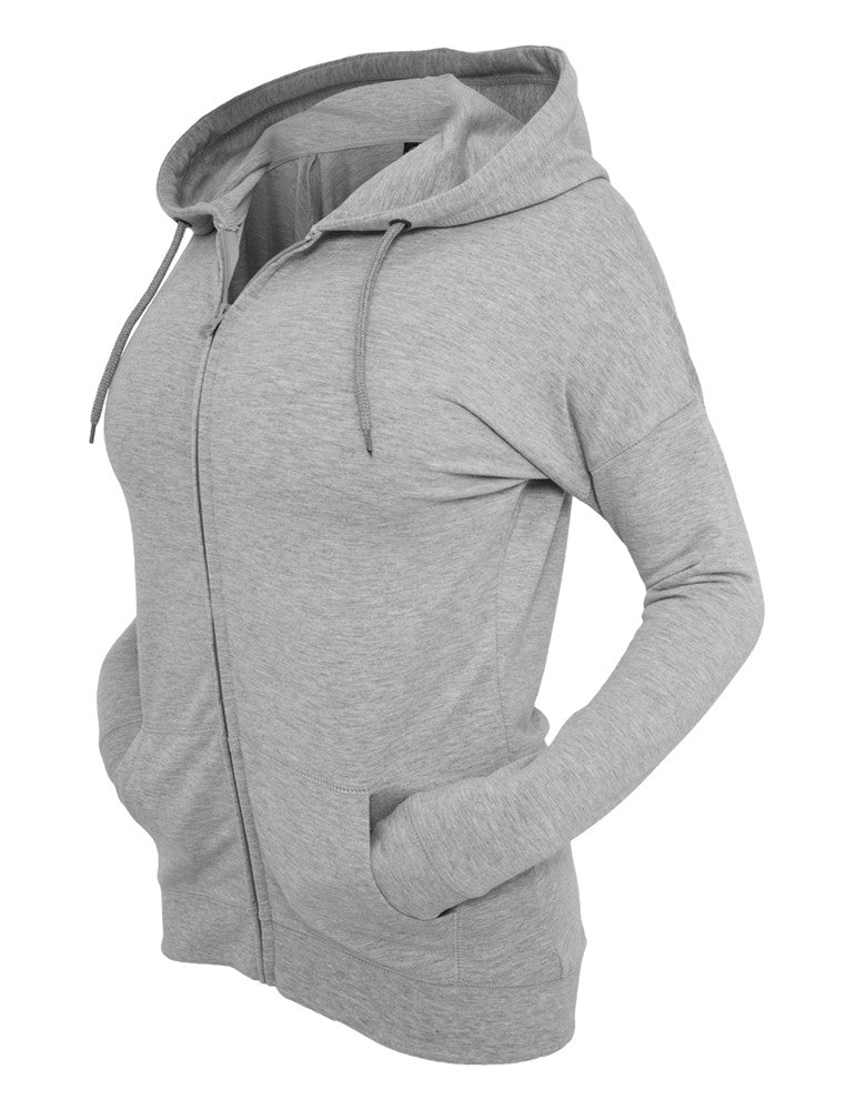 Ladies Long Zip Hoody TB603 grey Grey