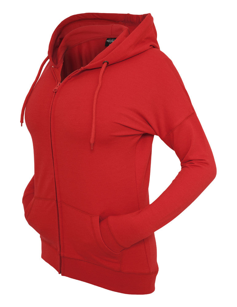 Ladies Long Zip Hoody TB603 red Red