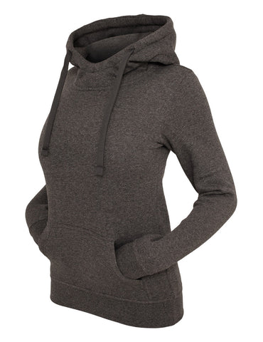 Ladies Melange Hoody TB611 black Black