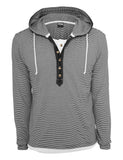Fine Stripe Button Jersey Hoody TB641 blk/wht Black