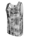 Brush Print Big Tank TB645 wht/blk White