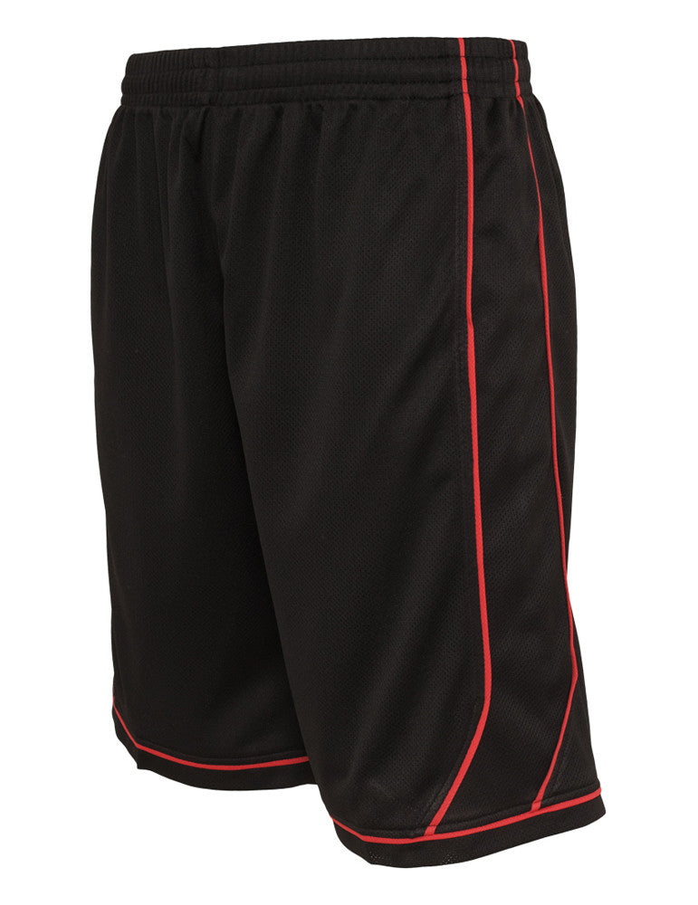 Piping Bball Mesh Shorts TB652 blk/red Black