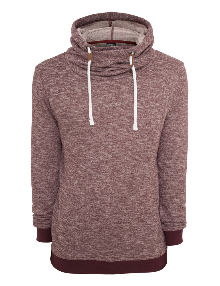 Terry Melange Hoody TB660 ruby/wht Red