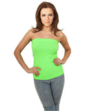 Ladies Neon Strapless Top TB687 neongreen Green