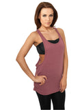 Ladies Melange Loose Tank TB705 ruby Red