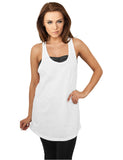 Ladies Rounded Slub Loose Tank TB708 white White
