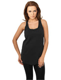Ladies Long Loose Racerback Tank TB710 black Black