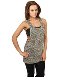 Ladies Melange Burnout Loose Tank TB722 olive Beige