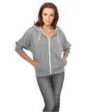 Ladies Bat 3/4 Sleeve Zip Hoody TB743 gry/wht Grey