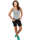 Ladies 5 Pocket Sweatshorts TB752 black Black