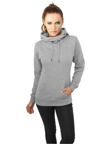 Ladies High Neck Hoody TB772 grey Grey