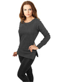 Ladies Side Zip Long Crewneck TB784 charcoal Grey