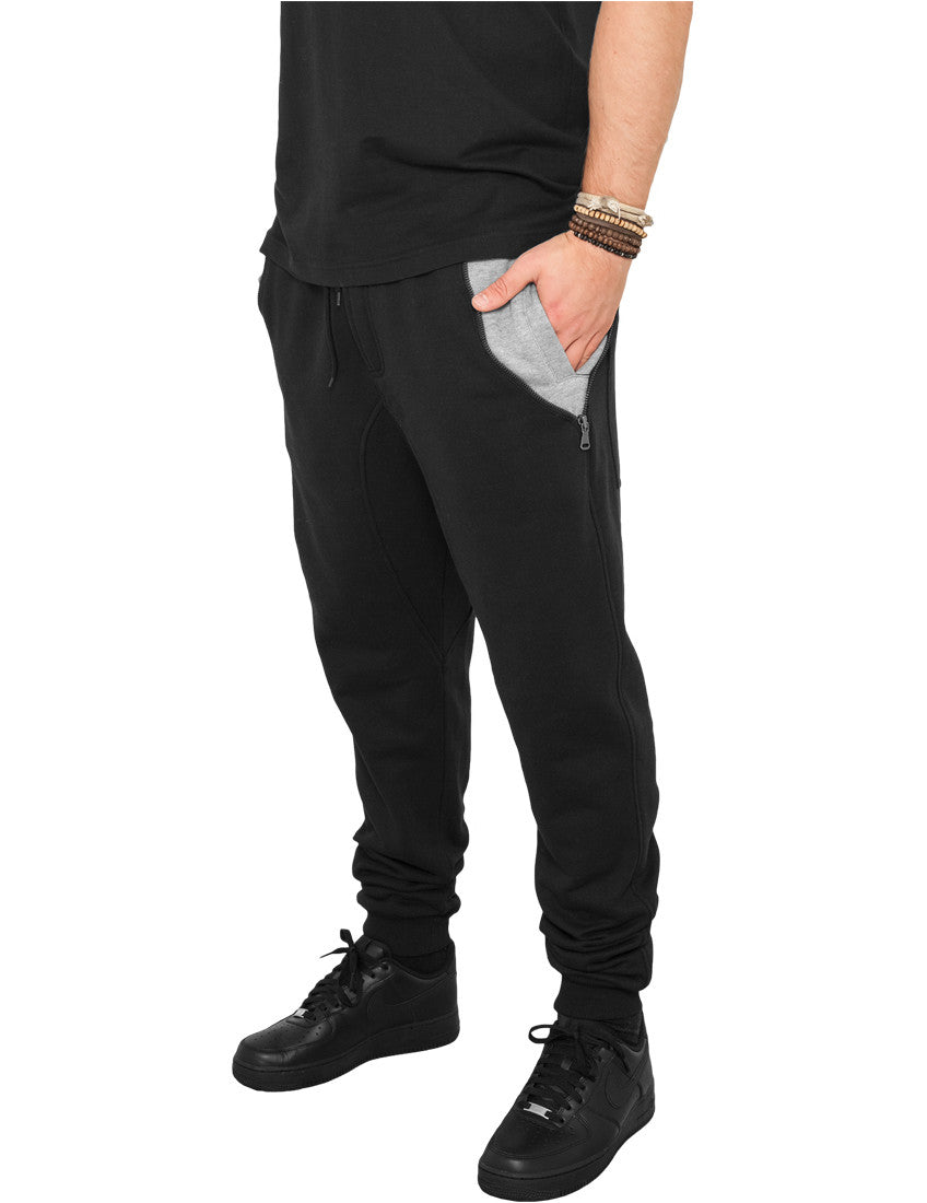 Side Zip Contrast Pocket Sweatpant TB810 blk/gry Black
