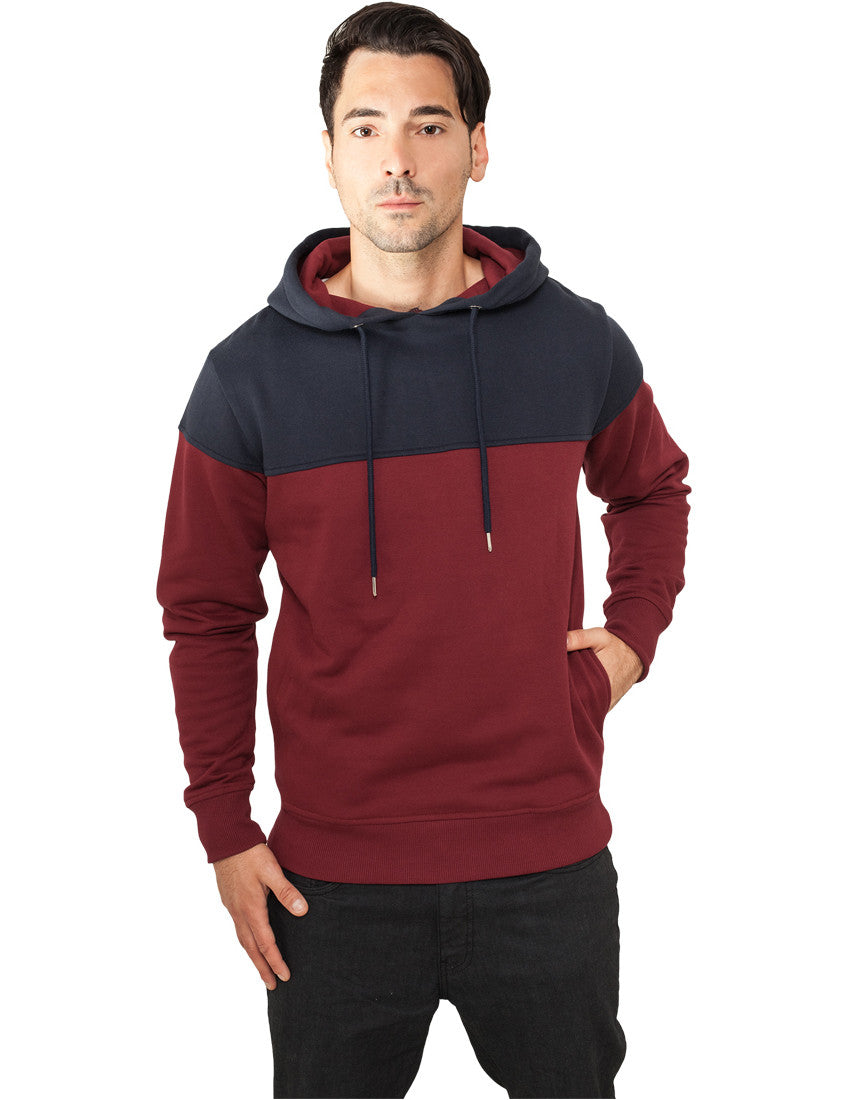Block Hoody TB828 burgundy/navy Brown