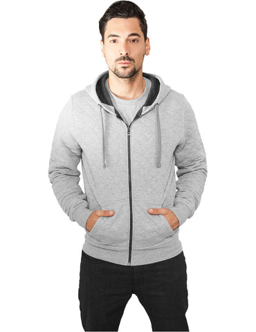Diamond Quilt Zip Hoody TB830 gry/cha Grey