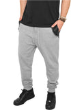 Side Zip Leather Pocket Sweatpant TB849 gry/blk Grey