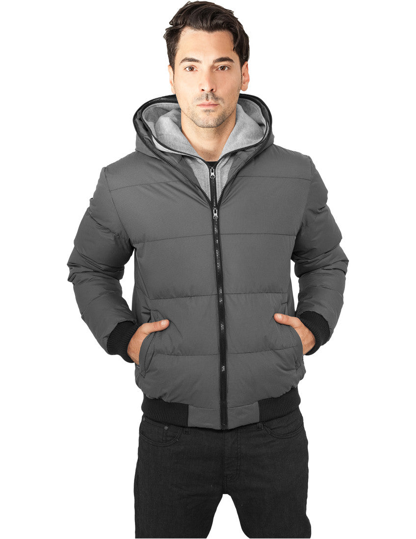 Double Hooded Jacket TB892 gry/gry Grey