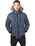 Melange Expedition Bubble Jacket TB894 blue melange Blue