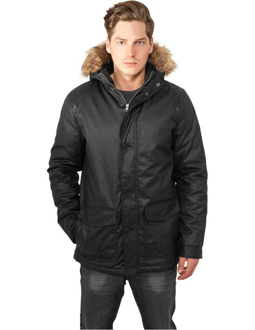 Coated Cotton Parka TB896 black Black
