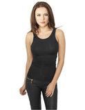 Ladies Fitted Viscon Racerback Tank TB906 black Black