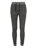 Ladies Zipped Melange Sweatpants TB935 blk/gry Black