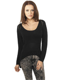 Ladies Tube Yarn Sweater TB942 black Black
