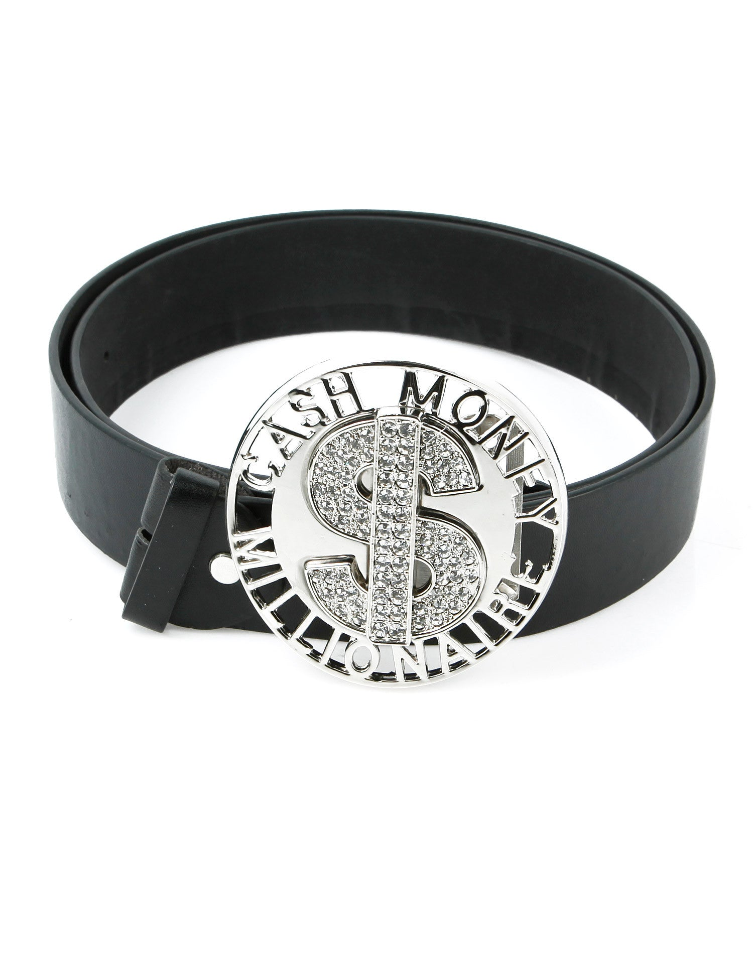 Cash Money Millionaire Belt Buckle Silver