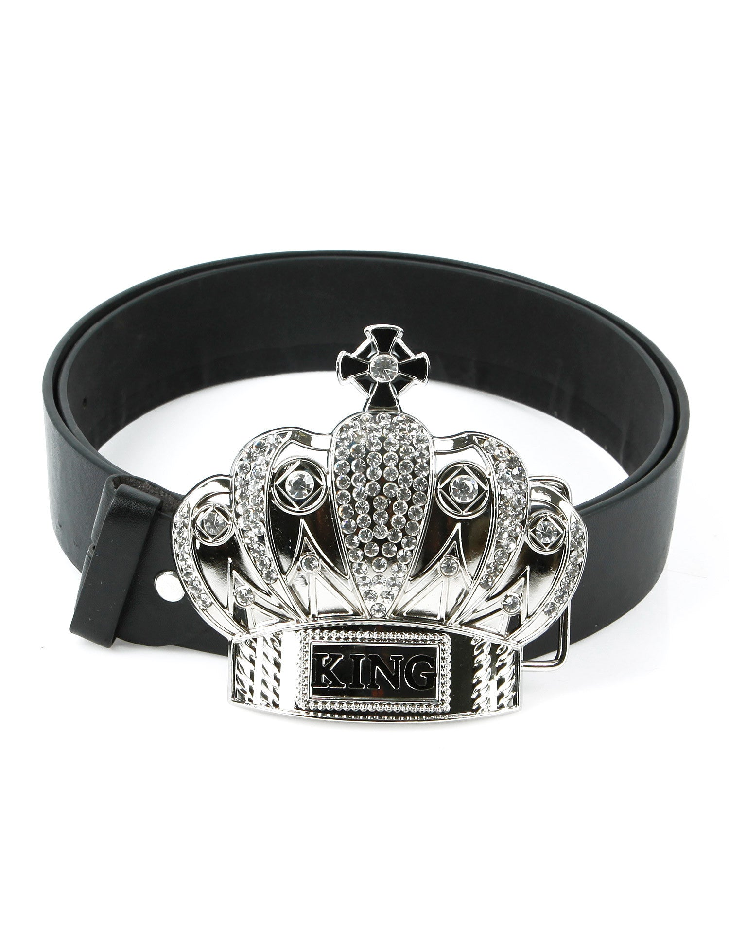King Belt Buckle Silver