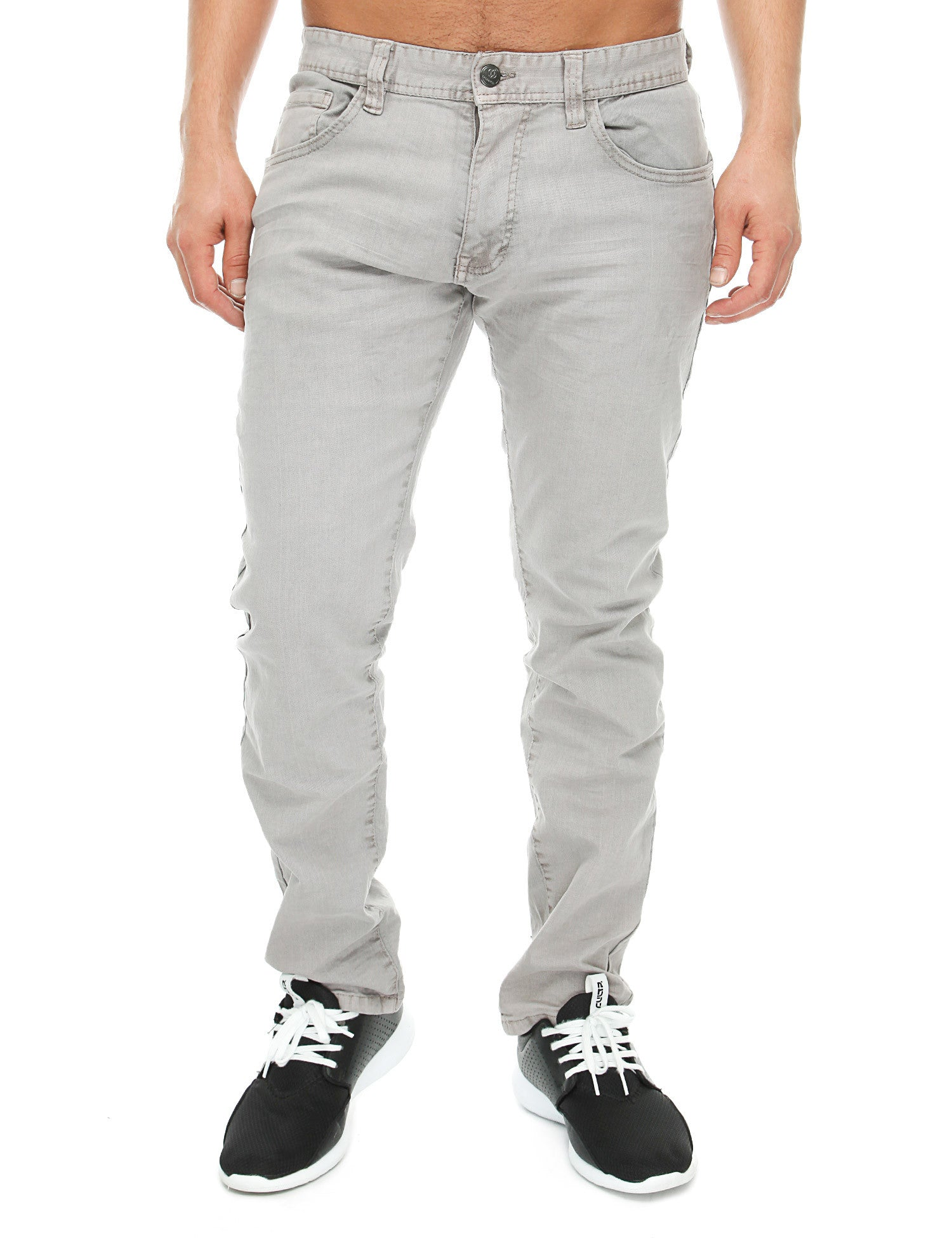Akademiks SLUB Jeans A16JN07 Light Grey