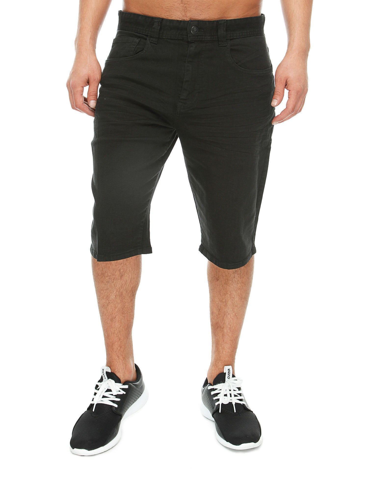 Akademiks RUSH Denim Shorts A16SH14 Black