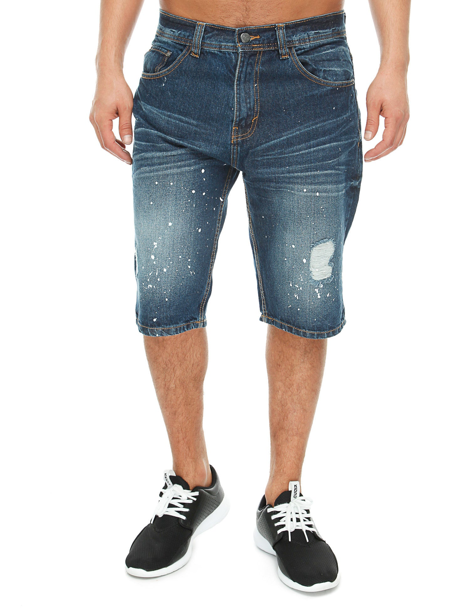 Akademiks BRIAN Denim Shorts A26SH04 Dark Blue
