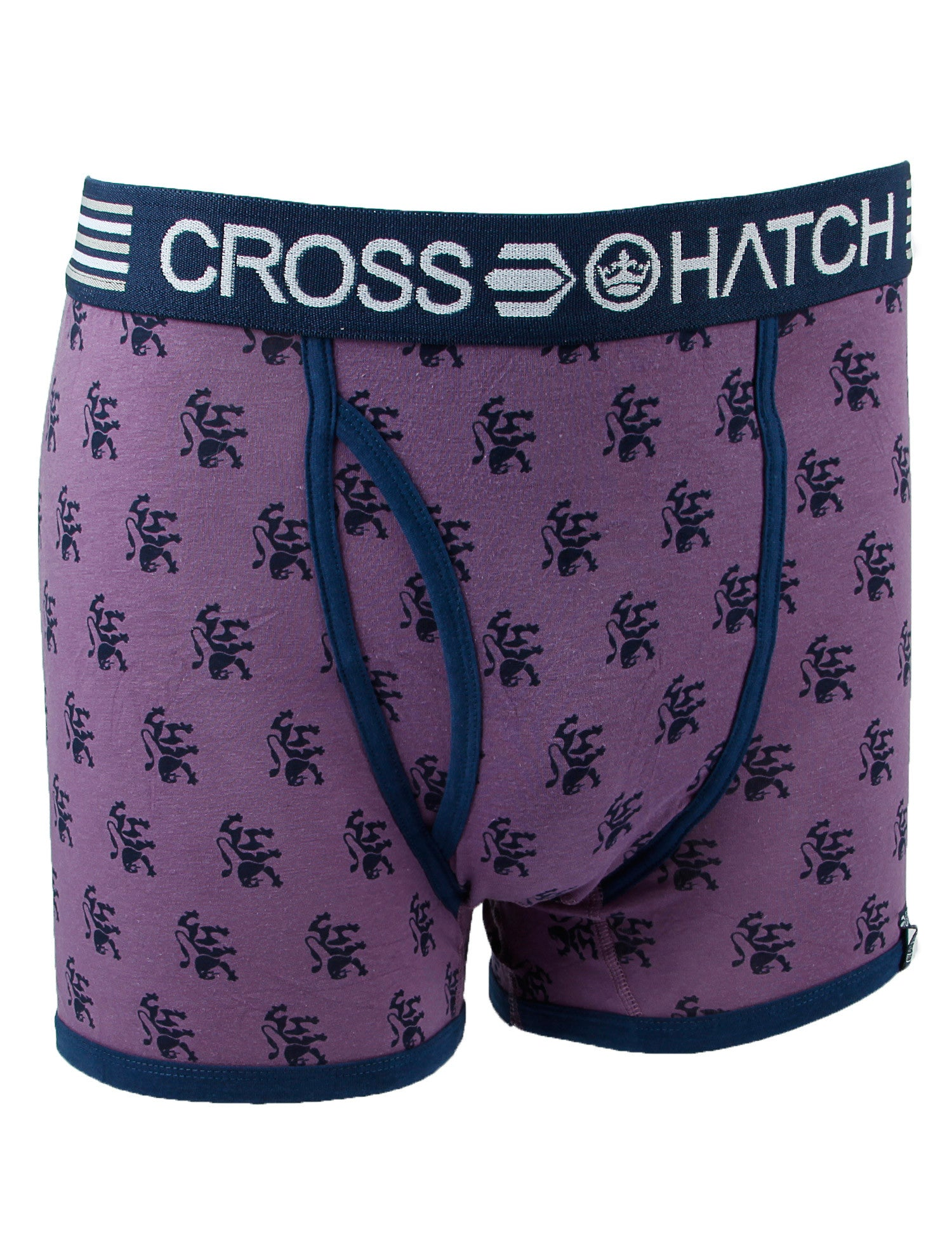 Crosshatch Lionpride Boxers CH2T106621 Purple